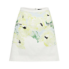 Buy French Connection Holiday Poppy Cotton Skirt, Ice Cooler Multi Online at johnlewis.com