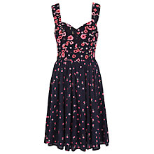 Buy French Connection Joni Stitch Embroidered Dress, Multi Blue Online at johnlewis.com