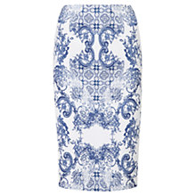 Buy Viyella China Print Pencil Skirt, White Online at johnlewis.com