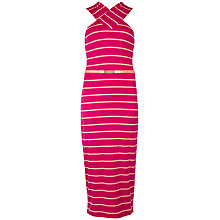 Buy Ted Baker Crossover-Neck Dress, Deep Pink Online at johnlewis.com