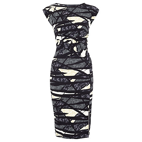 Buy French Connection Shadow Dance Jersey Dress, Black/Multi Online at johnlewis.com