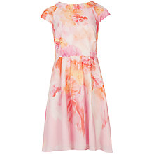 Buy Ted Baker Sugar Sweet Floral Dress, Nude Pink Online at johnlewis.com