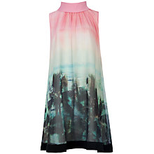 Buy Ted Baker Palm Tree Print Dress, Light Pink Online at johnlewis.com