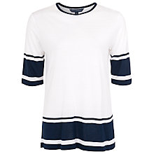 Buy French Connection Alley Stripe Top, White/Nocturnal Online at johnlewis.com
