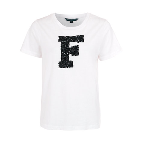 Buy French Connection Sparkle T-Shirt, White/Black Online at johnlewis.com