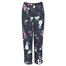 Buy French Connection Genevieve Linen-Blend Trousers, Nocturnal/Multi Online at johnlewis.com