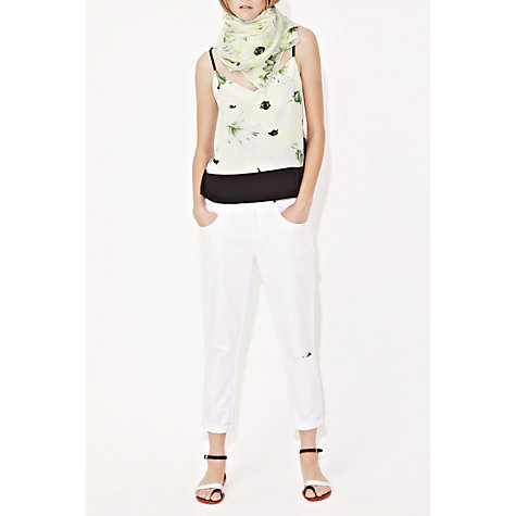 Buy French Connection Holiday Poppy Silk Top, Ice Cooler Multi Online at johnlewis.com