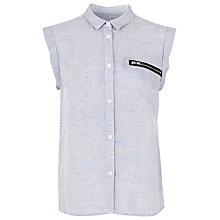 Buy French Connection Austin Linen Shirt, Grey Online at johnlewis.com