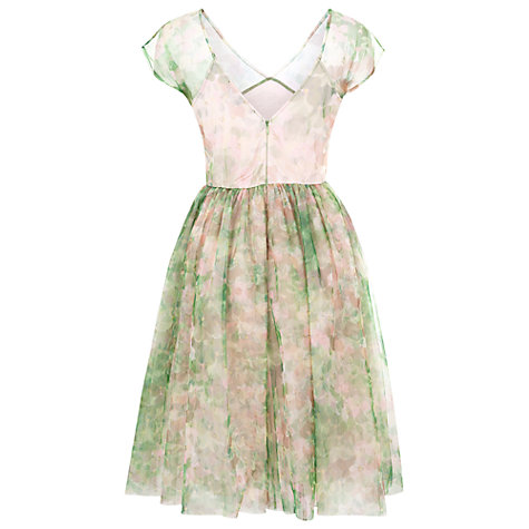 Buy French Connection Florida Bloom Mesh Dress, Sweet Apple Multi Online at johnlewis.com