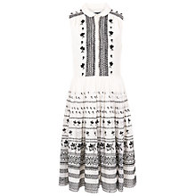 Buy French Connection Solstice Stitch Dress, Winter White/Black Online at johnlewis.com