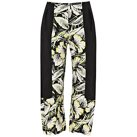 Buy French Connection Hot House Drape Trousers, Black Multi Online at johnlewis.com