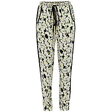 Buy French Connection Tropicana Check Tie Trousers, Black Multi Online at johnlewis.com