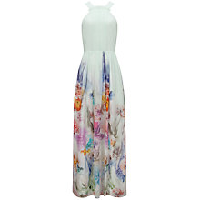 Buy French Connection Beula Printed Maxi Dress, Pale Green Online at johnlewis.com