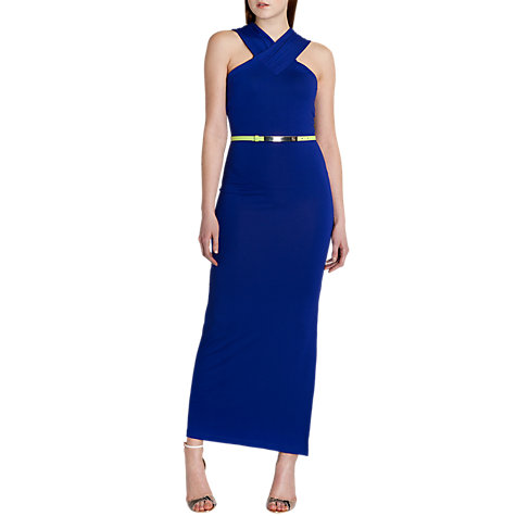 Buy Ted Baker Jessami Cross Front Maxi Dress, Mid Purple Online at johnlewis.com
