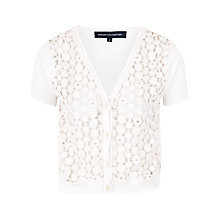 Buy French Connection Sparkle Sunflower Cardigan, Winter White Online at johnlewis.com