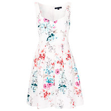 Buy French Connection Genevieve Pleat Dress, White Multi Online at johnlewis.com