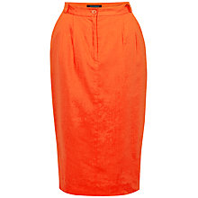 Buy French Connection Laguna Linen-Blend Pencil Skirt, Havana Red Online at johnlewis.com