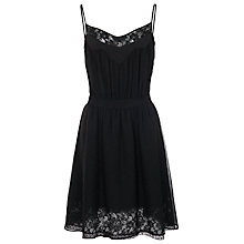 Buy French Connection Hot Crush Strappy Dress, Black Online at johnlewis.com