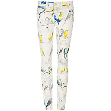 Buy Ted Baker Caarra Canary Print Jeans, White Online at johnlewis.com