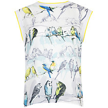 Buy Ted Baker Canary Print Sweat Top, White Online at johnlewis.com