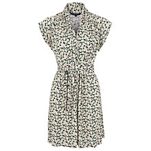 Buy French Connection Tropicana Daisy Tie Waist Dress, Black/Multi Online at johnlewis.com