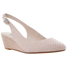 Buy Dune Candie Mid Wedge Heel Slingback Court Shoes Online at johnlewis.com