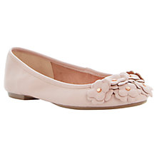Buy Dune Milberry Round Toe Flower Detail Flats, Pink Online at johnlewis.com
