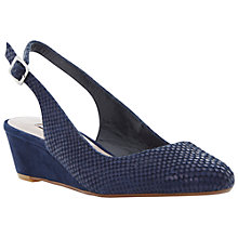 Buy Dune Candie Mid Wedge Heel Slingback Leather Court Shoes Online at johnlewis.com