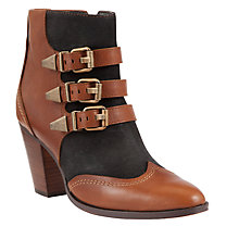 Buy Collection WEEKEND by John Lewis Oregon Leather Ankle Boots, Black/Tan Online at johnlewis.com