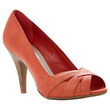 Buy Dune Celest Leather Peep Toe Court Shoes Online at johnlewis.com