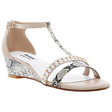 Buy Dune Guida T-Bar Low Wedge Sandal Online at johnlewis.com