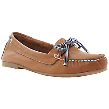 Buy Dune Lautical Lace Up Leather Boat Shoes, Tan Online at johnlewis.com