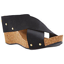 Buy Dune Gladley Fabric Cross Over Cork Wedges Online at johnlewis.com
