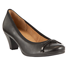 Buy Gabor Melton Leather Court Shoes, Black Online at johnlewis.com