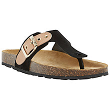 Buy Dune Jinkst Buckle Detail Footbed Toe Post Sandal, Black Online at johnlewis.com