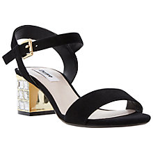 Buy Dune Harah Diamante Block Heel Sandals Online at johnlewis.com