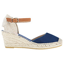 Buy Jigsaw Heeled Espadrille Leather Sandals Online at johnlewis.com