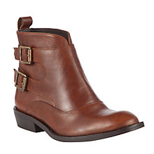 Buy Somerset by Alice Temperley Frampton Leather Ankle Boots, Tan Online at johnlewis.com