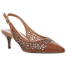 Buy Dune Cora Pointy Cut-Out Detail Slingback Leather Court Shoes Online at johnlewis.com