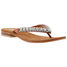 Buy Dune Kiki Embellished Leather Sandals Online at johnlewis.com