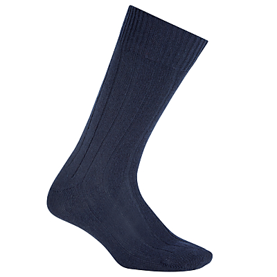 John Lewis Cashmere Mix Block Socks