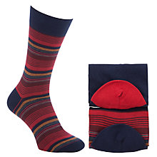 Buy John Lewis Egyptian Cotton Stripe Socks, Pack of 2 Online at johnlewis.com