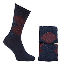 Buy John Lewis Cashmere Argyle Socks, Pack of 2 Online at johnlewis.com