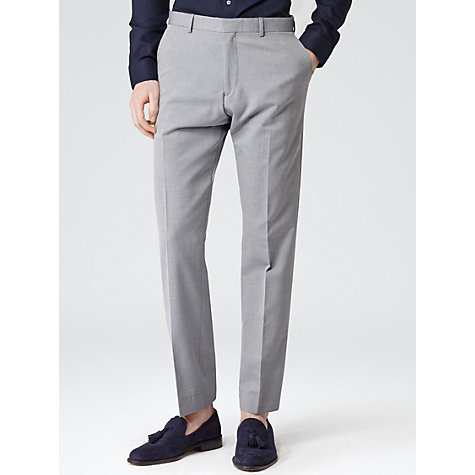 Buy Reiss Woodland Tailored Blend Trousers, Light Blue Online at johnlewis.com