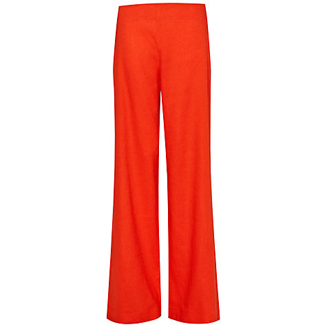 Buy French Connection Laguna Flared Trousers, Havana Red Online at johnlewis.com
