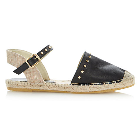 Buy Dune Joka Leather Espadrille Flat Sandals Online at johnlewis.com