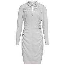Buy Reiss Rossini High Neck Keyhole Dress, Silver Online at johnlewis.com
