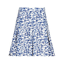 Buy Reiss Stara Print Pleat Skirt, Blue Online at johnlewis.com