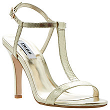 Buy Dune Henrieta  Snake Print High Sandals Online at johnlewis.com