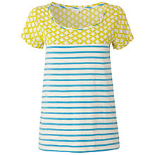 Buy White Stuff Marissa T-Shirt, Blue / Yellow Online at johnlewis.com
